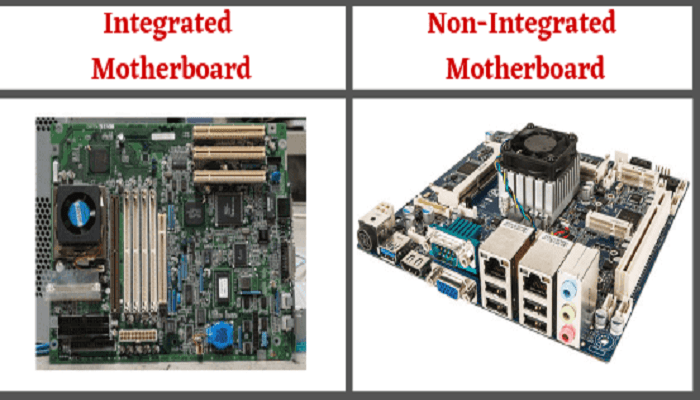 Differences between Integrated & Non Integrated Motherboard