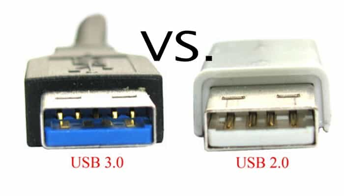 Differences between USB 2.0 and USB 3.0 Port