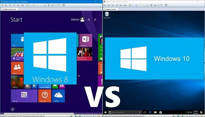 Differences between Windows 8 and Windows 10